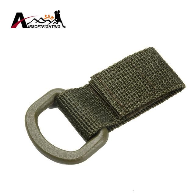 OUTDOOR TACTICAL MOLLE WEBBING BUCKLE CLAMBING BELT D-RING CARABINER BUCKLE MILITARY NYLON HANGING CHAIN BACKPACK KEY HOOK