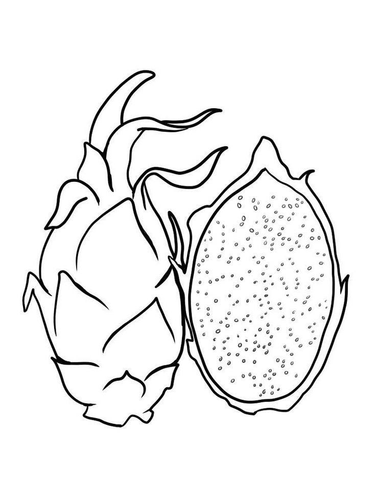 Dragon Fruit Coloring Pages To Print Free