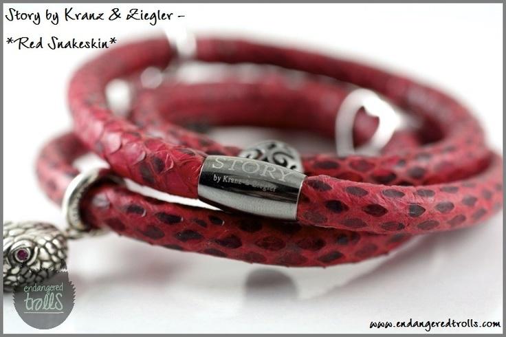 Story by Kranz & Ziegler Red Snakeskin Bracelet