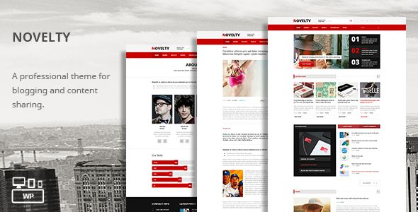 Novelty - Content Sharing WordPress Theme - Entertainment