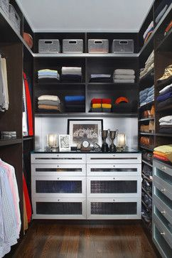 Sporty Looking Closet With Metal Accents And Pops Of Color | Via Houzz  Stillman Contemporary Closet