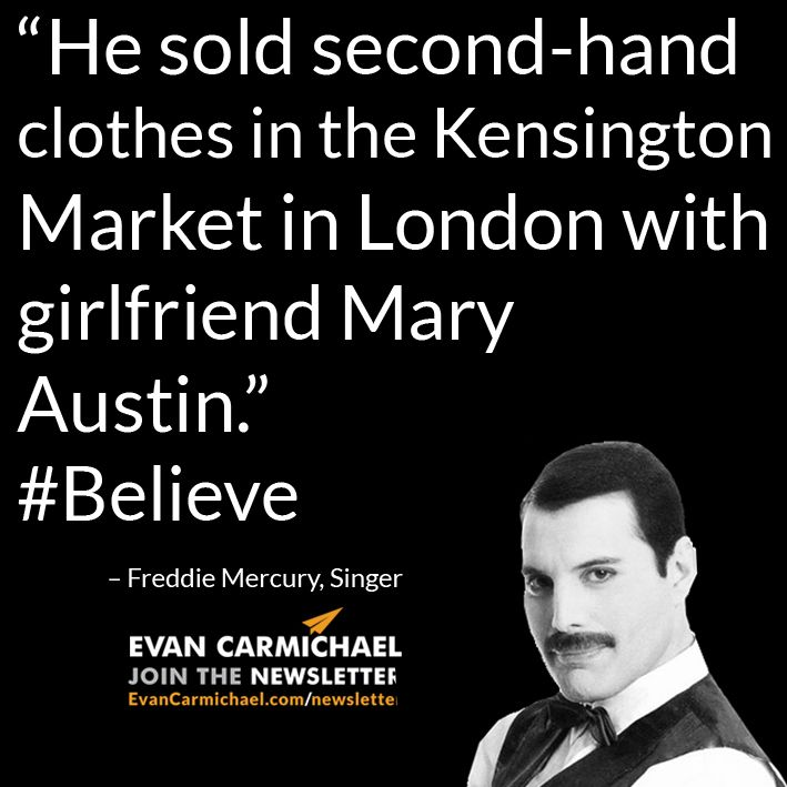 """He sold second-hand clothes in the Kensington Market in London with girlfriend Mary Austin."" – Freddie Mercury #Believe - http://www.evancarmichael.com/blog/2015/04/02/he-sold-second-hand-clothes-in-the-kensington-market-in-london-with-girlfriend-mary-austin-freddie-mercury-believe/"
