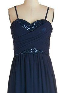 Receiving Line Dress in Navy, $89.99, Modcloth   21 Adorable Plus-Size Holiday Party Dresses Under $100
