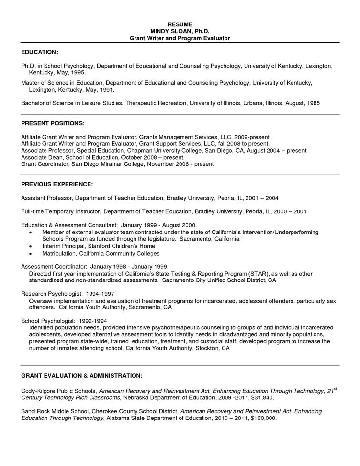 Phd program resume objective