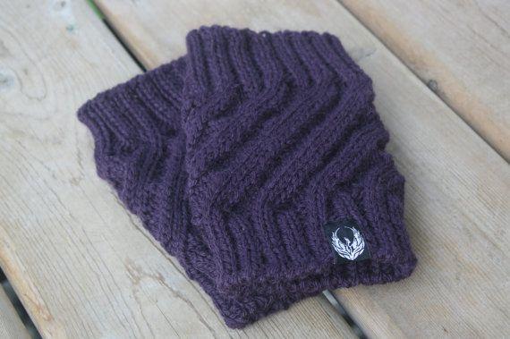 Twister Boot Cuffs by PhoenixKnitwear on Etsy