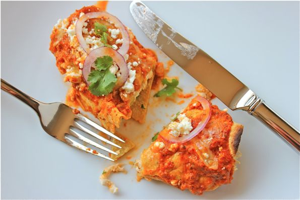 Papalote Salsa Enchiladas - Serving Seconds