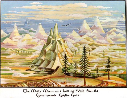 The Hobbit - art by J.R.R. Tolkien (1937-1938)
