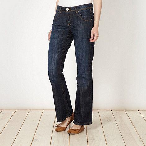 Dark blue bootcut jeans #DIY #FASHION