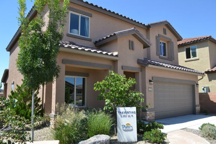 Model home at The Boulders.