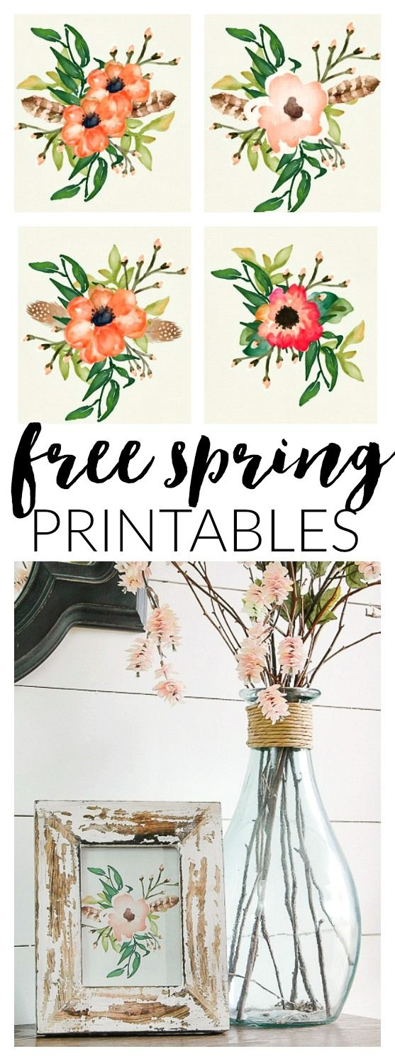Four FREE Poppy printables perfect for spring! www.littlehouseoffour.com