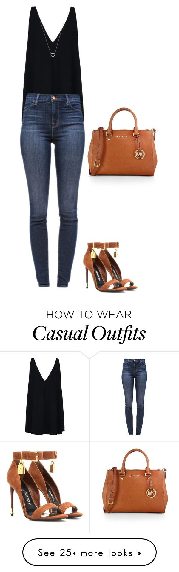 """L.A casual lunch"" by marta-isabella on Polyvore featuring MICHAEL Michael Kors, STELLA McCARTNEY, J Brand, Tom Ford and Tiffany & Co."