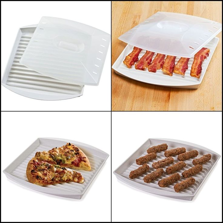 Microwave Bacon Grill Cooker&Cover Bacon Cookware Tray Pan healthier breakfast #Progressive