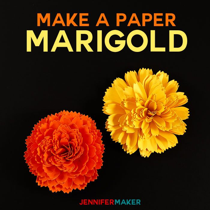 Diy Paper Marigold For Autumn And Day Of The Dead Paper Flowers