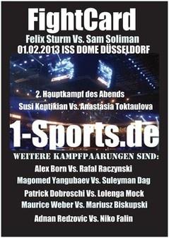 RAN BOXEN LIVE AUF SAT 1 - FELIX STURM Vs. SAM SOLIMAN am 01.02.2013 ISS DOME DÜSSELDORF - TICKETS GIBT ES HIER !