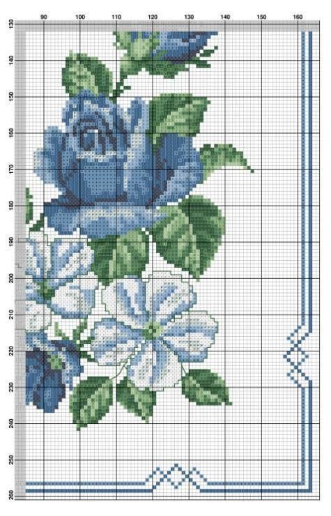 Rose e campanule blu 3