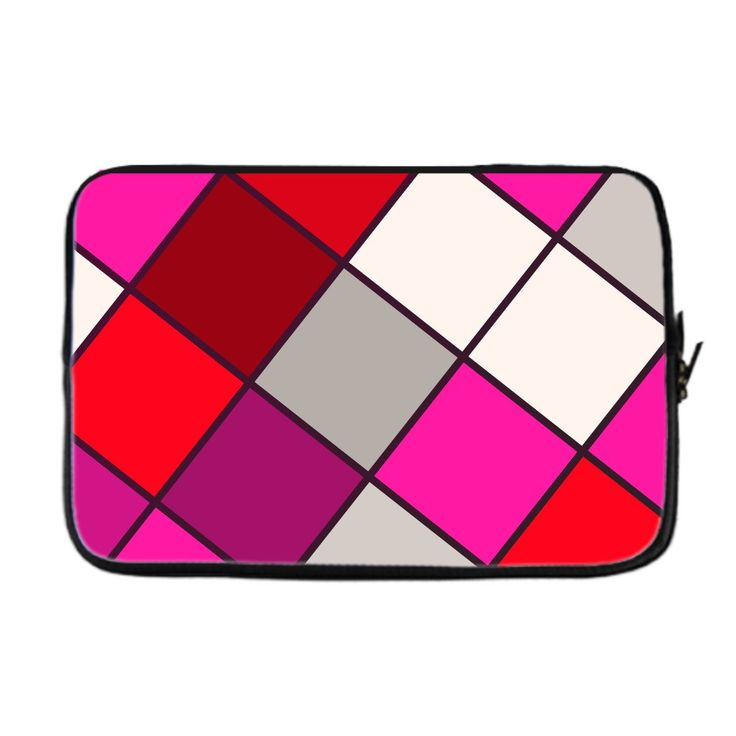 Must see Red Pink Checker Neoprene Laptop Sleeve check it out here [product-link]
