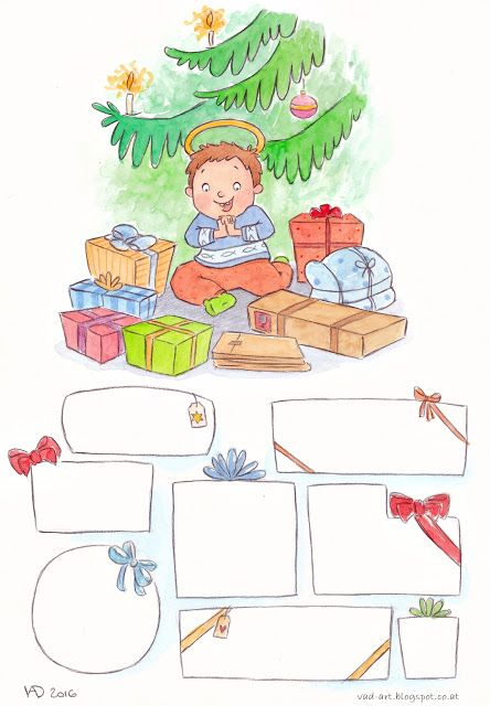 Sonja Häusl-Vad Illustrations - After Christmas Aktivity - make a gift for Jesus.