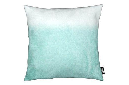 Dekokissen Fading Aqua Grun 30x30 Cm Dekokissen Kissen Aqua