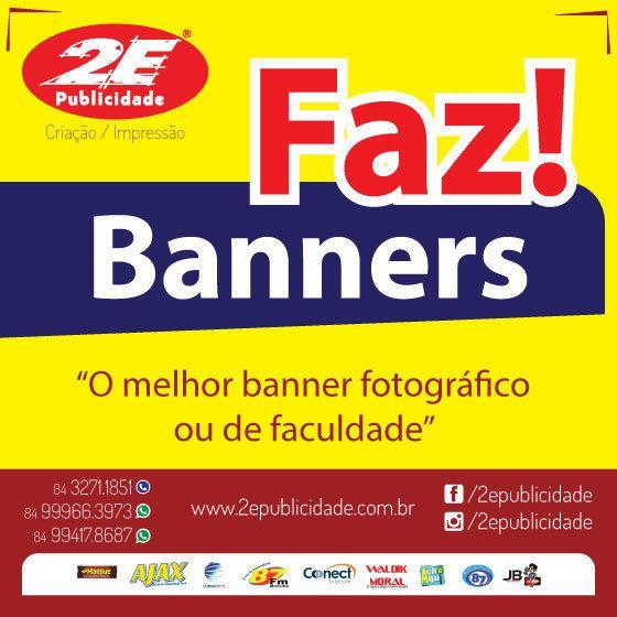 Dificuldade para fazer Criação de Arte ou impressão de Banner?  Somos a solução, da Criação a Impressão!!! veja mais em: www.2epublicidade.com.br