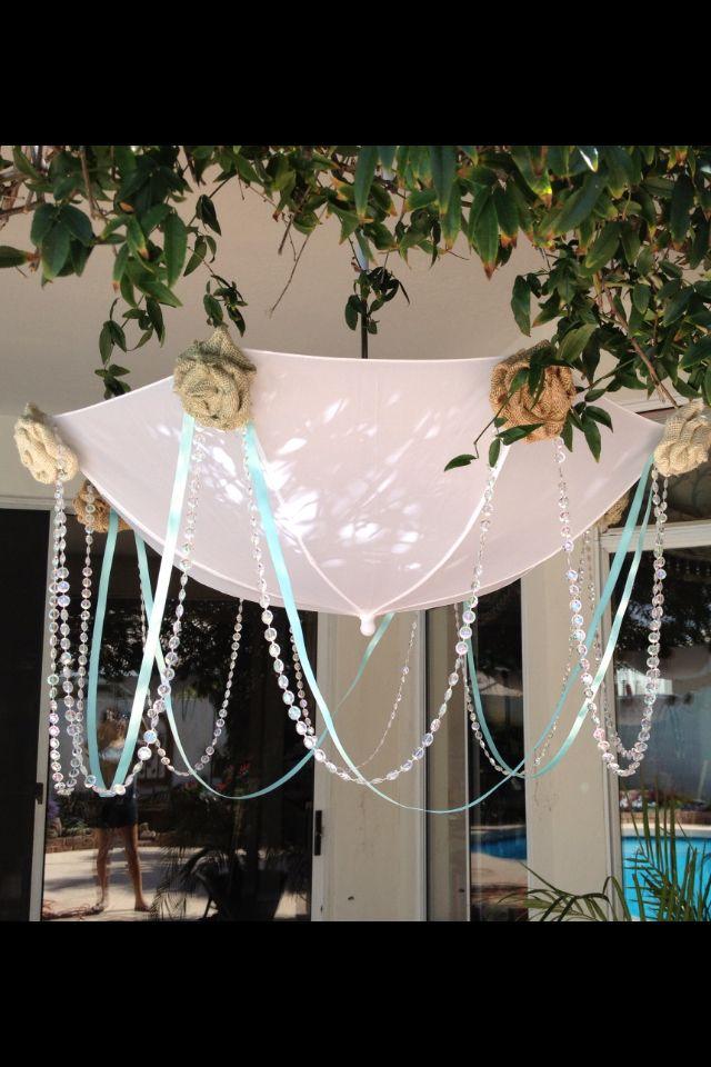 Shabby chic DIY umbrellas for #vanessa sterner  baby shower