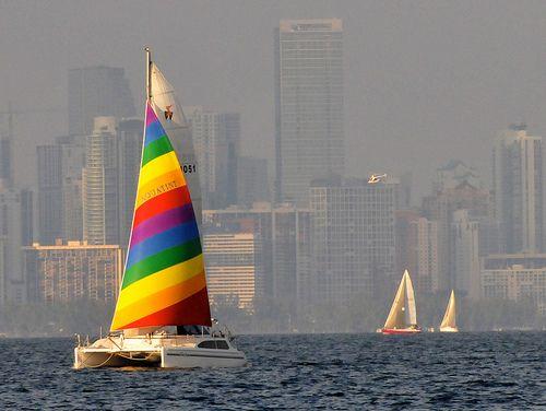 Miami   Florida (by ImranAnwar)Sailboats, Backdrops, Florida, Rainbows Sailing, Colors Rainbows, The Cities, Miami Skyline, Sailing Away, Sailing Boats