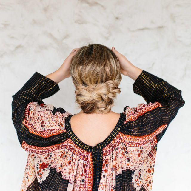 Easy Triple Braided Updo Tutorial – The Effortless Chic