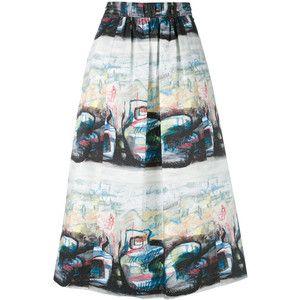 Burberry printed skirt