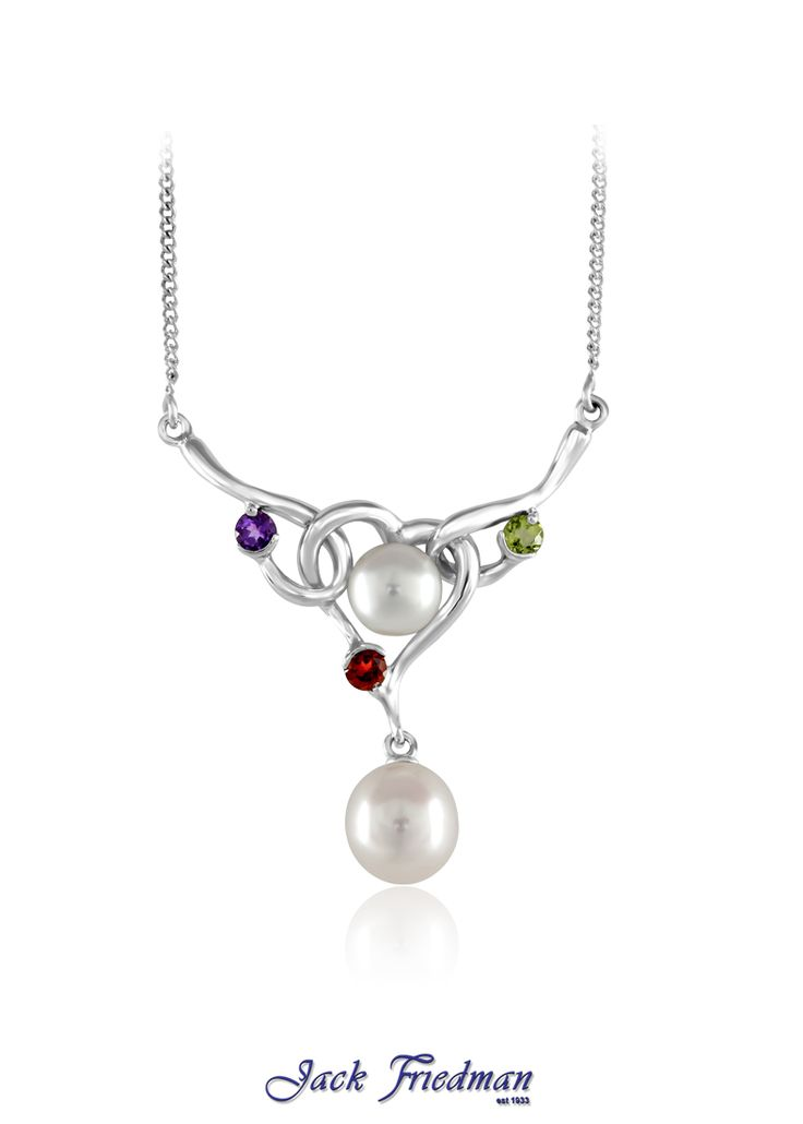 Fresh water pearls set in silver with gemstones jackfriedman.co.za