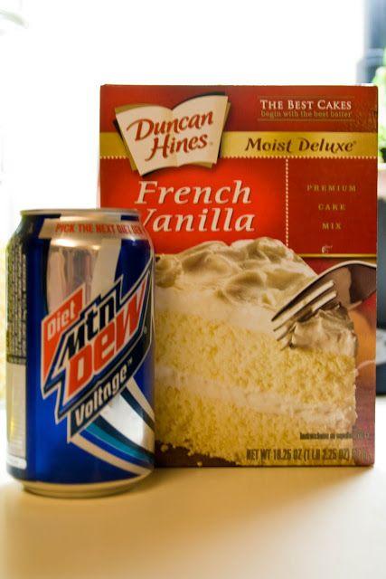 Mountain Dew Voltage Cake, i am currently using baja blast and white cake mix. Hopefully i dont burn it...