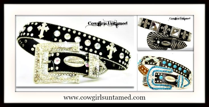 WHOLESALE CUSTOMERS ~ 50% OFF COWGIRL STYLE RHINESTONE BELT 3 PACK XLARGE Cross/Black, Fleur De Lis/Black and Turquoise/Black Leather Belt Pack  #belt #western #cowgirl #sale #barrelracing #sale #lot #pack #wholesale #turquoise #cross #concho #barrelracing #fleurdelis #boutique #fashion #beautiful #silver #buckle #horse #equine