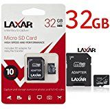 #8: LaXar Ultra 32GB Micro SD TF Memory Card Class 10 with Micro SD to SD Adapter High Performance SD Card - Full HD & 4K Photos & Video Storage #movers #shakers #amazon #electronics #photo