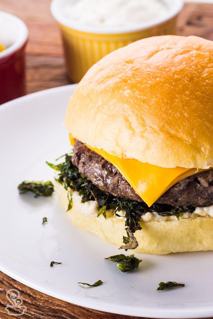 maravilhoso hambúrguer de fraldinha com gorgonzola