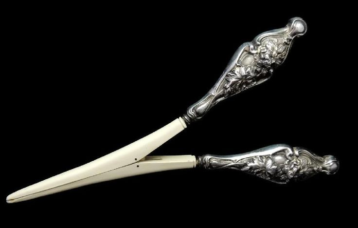 Antique Art Nouveau Sterling Silver Glove Stretcher