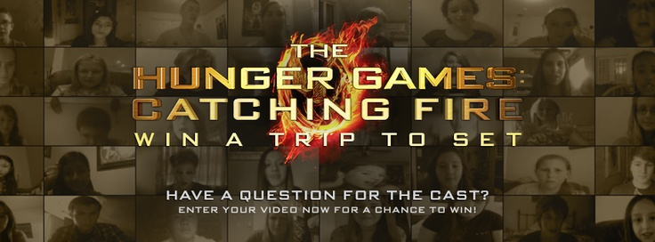 May the odds be ever in your favor! Click the pic to enter to win a trip to The Hunger Games: Catching Fire set!