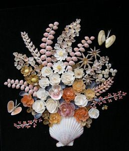crafting with shells | modern example of shell work. All the shells in this picture were ...