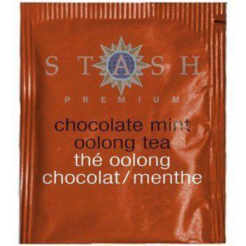 Stash Tea Chocolate Mint Oolong Tea : caffeinated.  My fav!