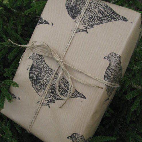 Partridge Bird Christmas Gift Wrap - Three Sheets