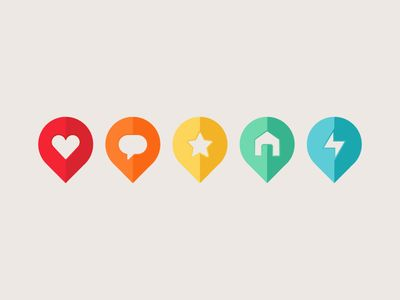 Colorful Geotags | #design #icons #geotags #ui #ux #map