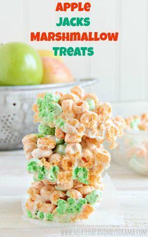 Apple Jacks Marshmallow Treats - a fun, easy no-bake recipe using Apple Jacks cereal and marshmallows