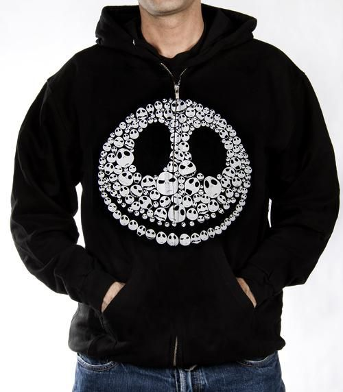 Click for Full Size Image of Nightmare Before Christmas, Hoodie, Faces