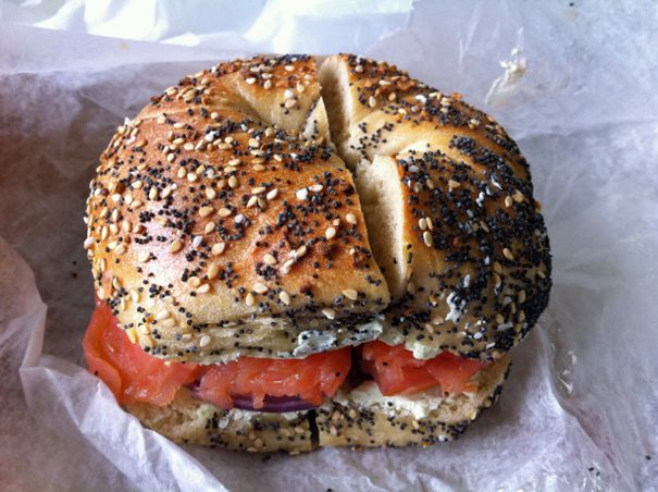 Absolute Bagels (And The Best Bagel of My Life, So Far). Adam Roberts, who pinned this originally, is young and untried--this will probably be the best bagel of his life, ever. Because he's already eaten H and Russ and Daughters.