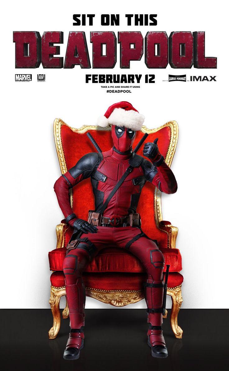 deadpool f te no l sur la nouvelle affiche du film marvel geeky deadpool movie deadpool. Black Bedroom Furniture Sets. Home Design Ideas