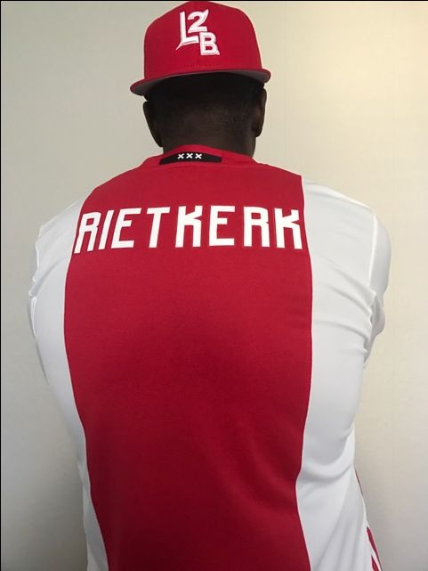 """A Young #L2BWARRIORS #Soccer Player gifted #L2B this #Dope #Adidas #Amsterdam #AJAX #TeamSoccer #Jersey to Rep ..... he's attending #school in #Spain and playing for the #U19 #Team, he's 13 standing 6'4"""" ... #AlfredRietkerk like we say #L2BELITE """"It's Way Bigger Than Basketball"""" ⚽️⚾️ and more so name your #Sport that You #LOVE2BALL"""
