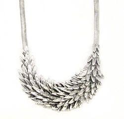 Fashion Metal Leaf Choker Necklace