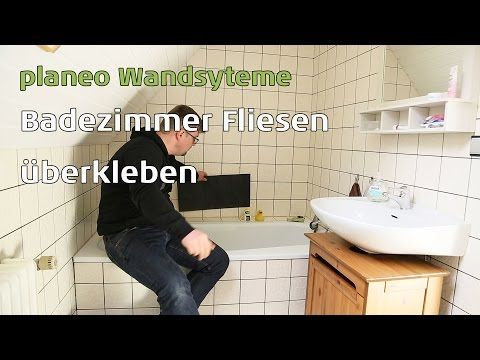 Badezimmer Wände renovieren mit planeo Wandsysteme - YouTube