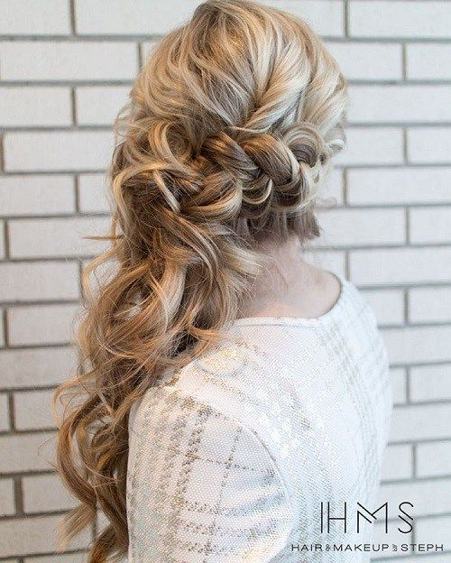 Bridal Hairstyles For Long Hair With Flowers : Best 20 side ponytail wedding ideas on pinterest bridesmaid