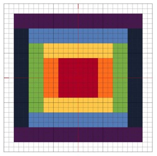 Cross Stitch: Rainbow Block 2 - The Crafty Mummy