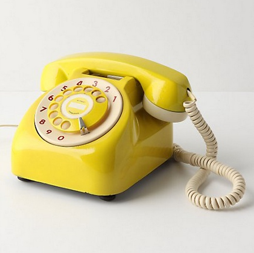 i want a vintage, yellow rotary phone.