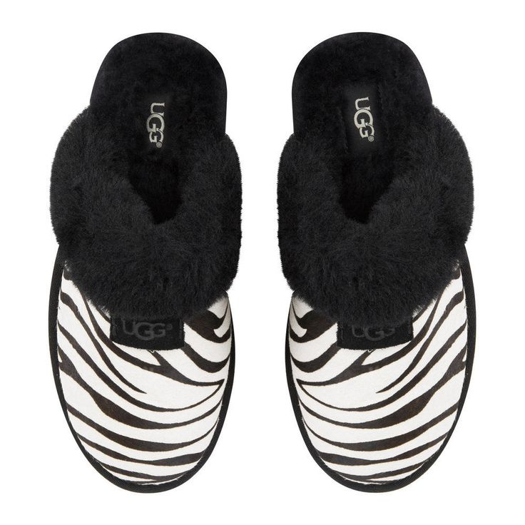 UGG Ladies Slippers SCUFFETTE II Exotic- Zebra - New in Box - UK Size 6 | Clothes, Shoes & Accessories, Women's Shoes, Slippers | eBay!