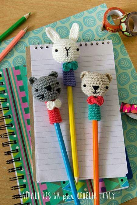 Crochet pencil toppers inspiration